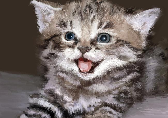 手绘小猫图片素材免费下载-千图网www.58pic.com