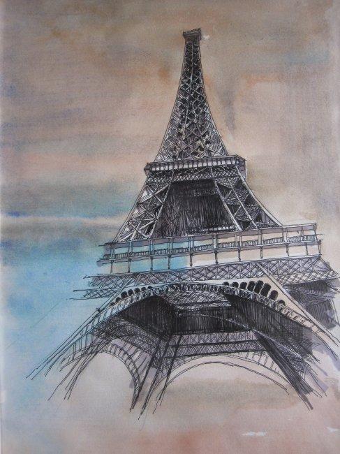 欧洲 建筑 欧洲建筑 手绘 手绘建筑 钢笔速写 淡彩 速写 建筑速写