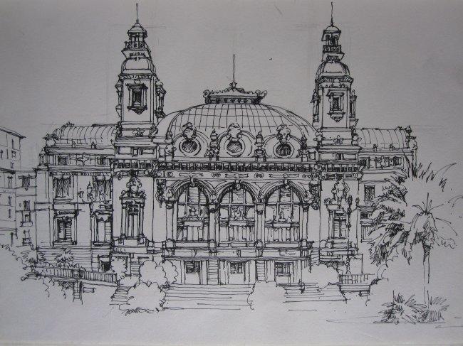 欧洲 建筑 欧洲建筑 教堂 教堂建筑 欧洲教堂建筑 手绘 手绘建筑 钢