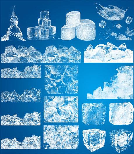 高清冰霜冰块笔刷 夏季必备最佳素材