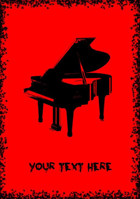 簡約鋼琴海報免費下載