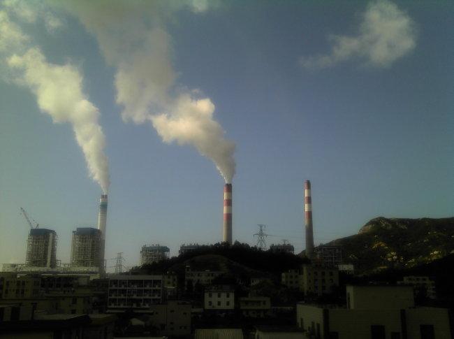 台山火力发电站烟囱