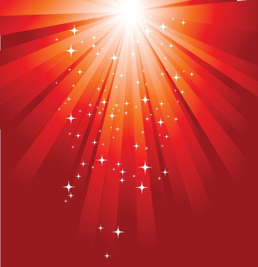 红色背景 星光