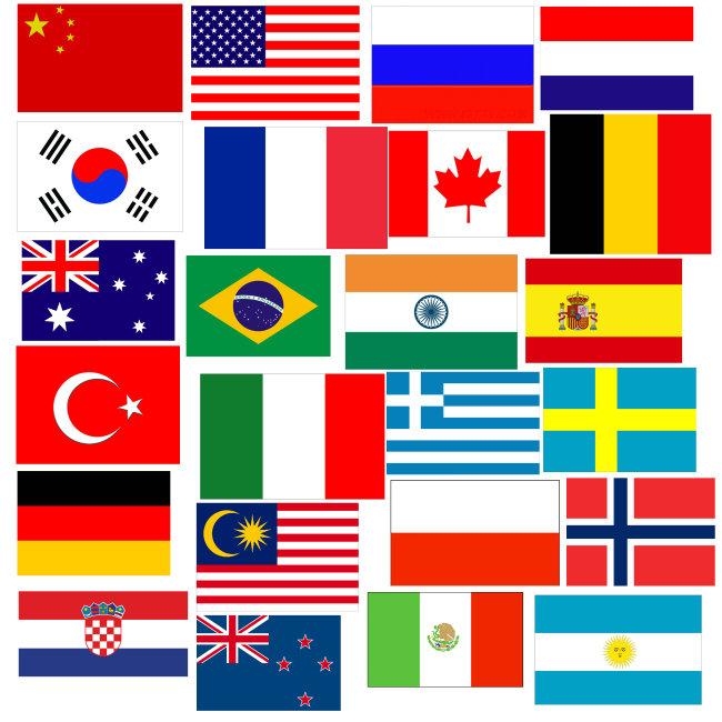 儿童画世界国旗