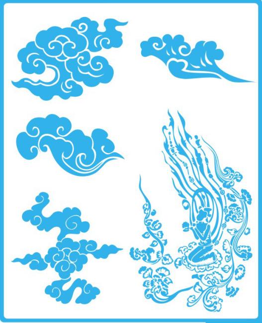 古典云纹矢量图免费下载-千图网www.58pic.com