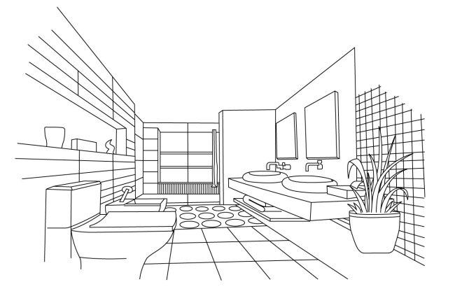 工程图 简笔画 平面图 手绘 线稿 650_433
