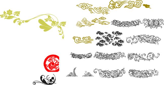 花边底纹矢量图免费下载-千图网www.58pic.com