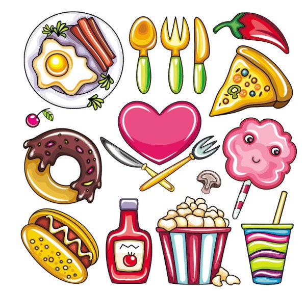 卡通食物零食