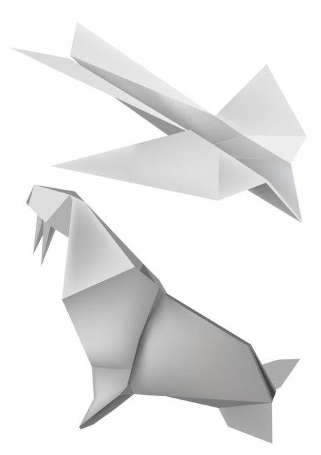 燕子海狮折纸