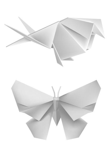 蝴蝶折纸矢量图免费下载-千图网www.58pic.com