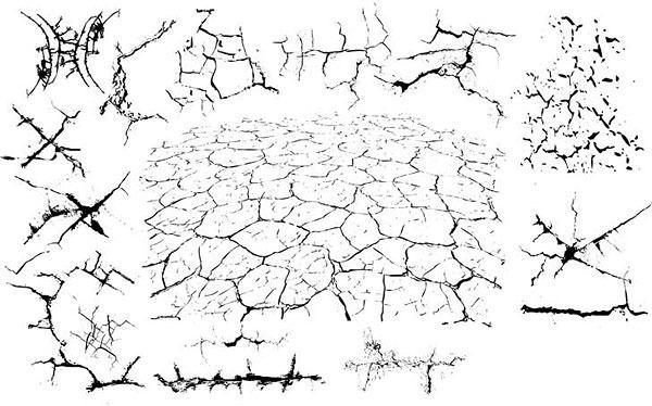 黑白创意手绘地图