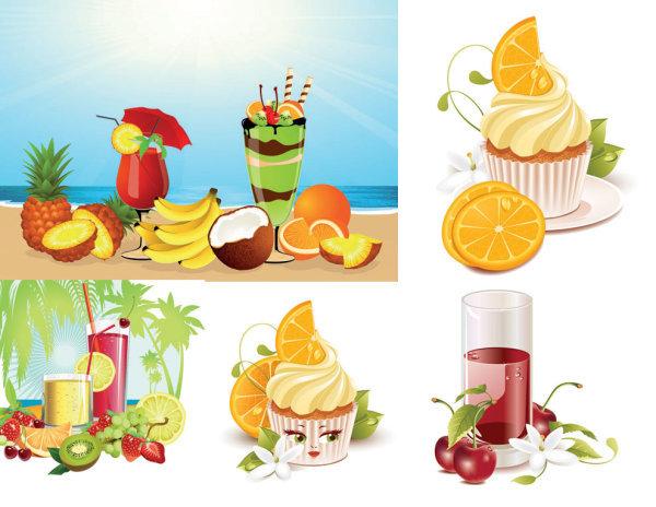 饮品手绘图片冰淇淋
