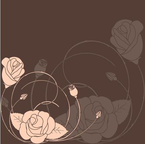 简约漂亮玫瑰花背景素材