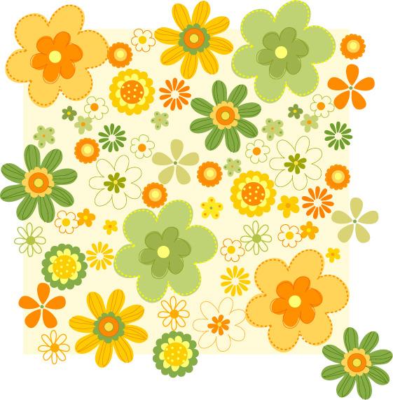 花朵底纹简笔画免费下载