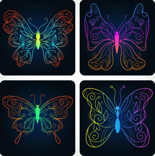 手绘蝴蝶图案