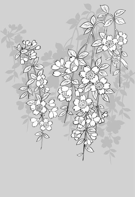樱花手绘铅笔画