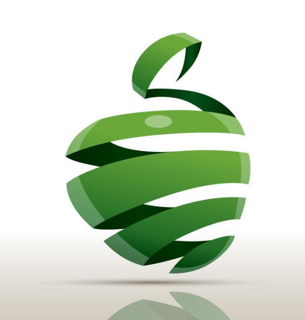创意折纸苹果素材