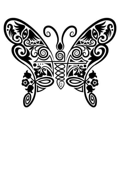 手绘图案蝴蝶