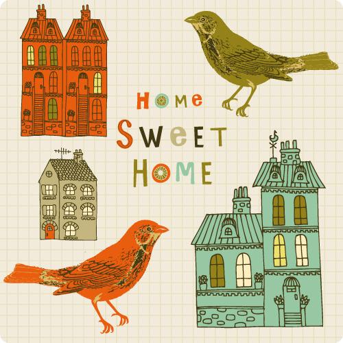 小鸟房子手绘稿