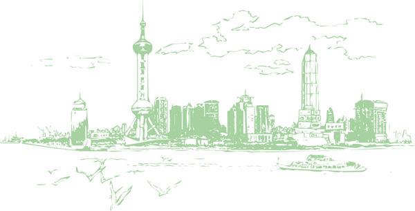 东方明珠线图 单色 上海
