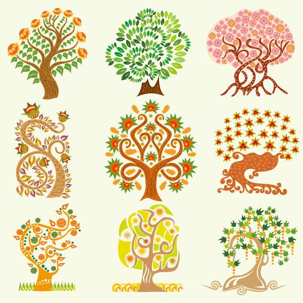 矢量手绘创意树