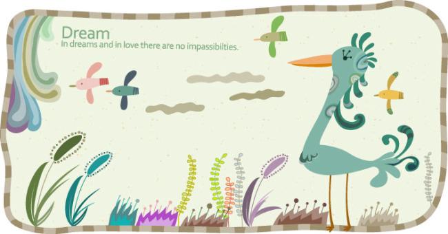 矢量素材儿童抽象画
