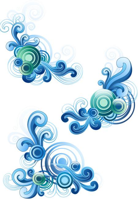 海浪手绘简单边框