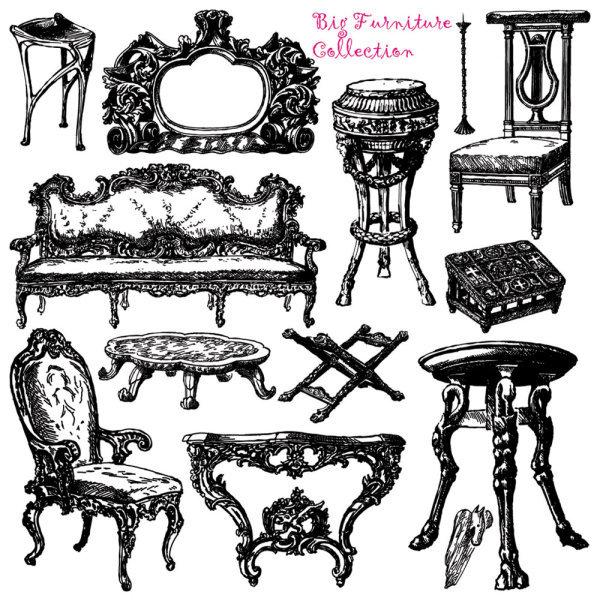 精美手绘复古家具