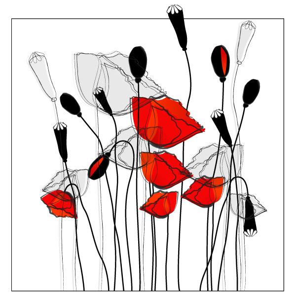 矢量素材时尚简约手绘花朵