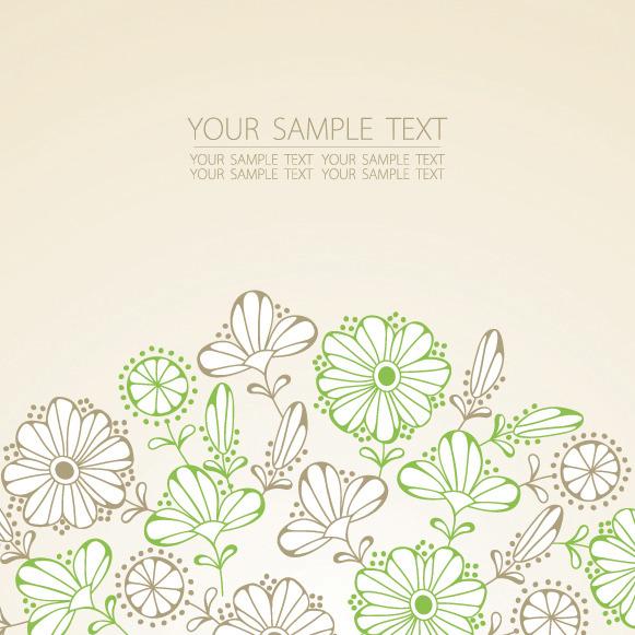 矢量素材手绘鲜花背景