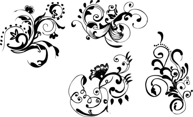 手绘 花卉; 手绘花卉;; 简单的手绘花纹图案分享