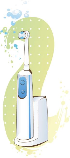 矢量手绘电动牙刷