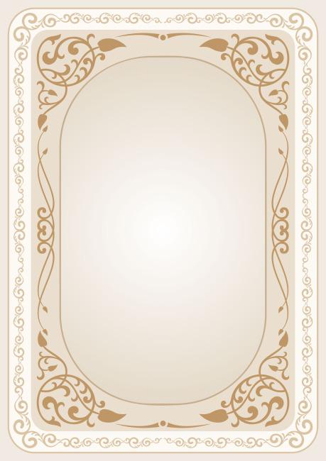 矢量淡雅欧式线条花纹装饰边框