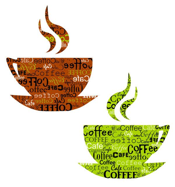 矢量素材创意咖啡杯图形图片
