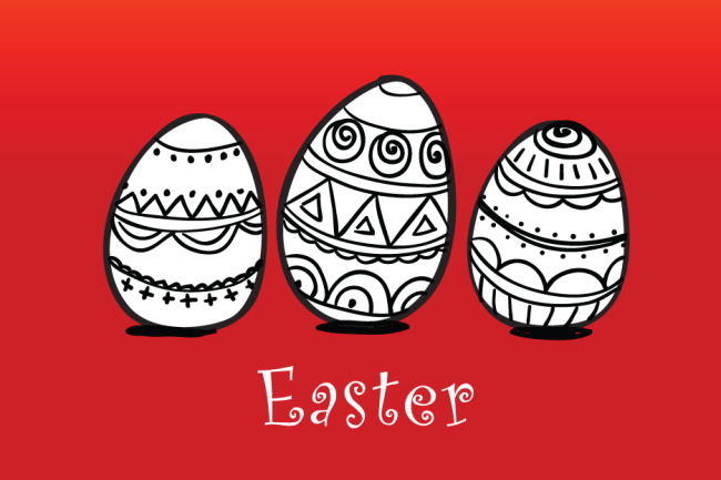 彩蛋 复古纹样 彩绘花纹 可爱复活节图片素材图片