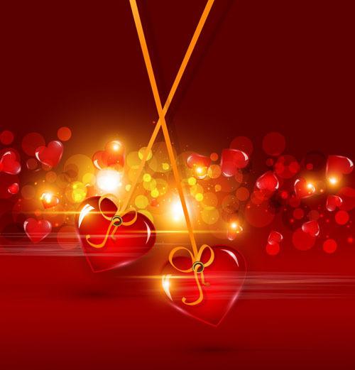 情人节海报素材_[eps]矢量素材红色爱心情人节背景; 情人节活动海报矢量图 上传于20