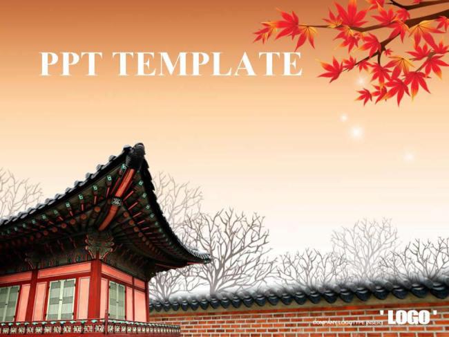 中国古典建筑pptppt模板免费下载-千图网www.58pic图片