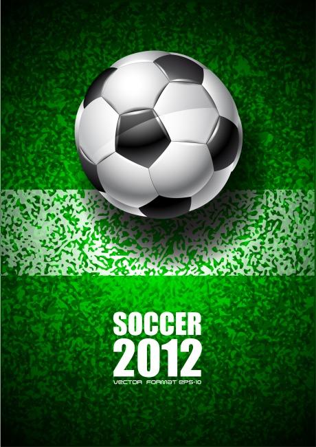 2012足球赛宣传海报矢量素材