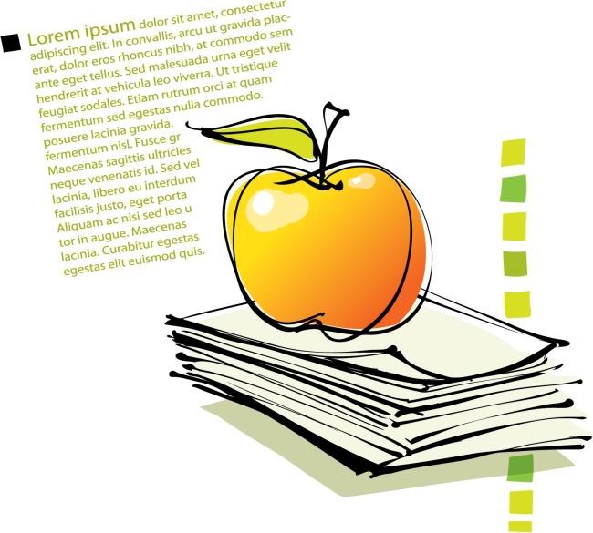 矢量手绘苹果彩绘图片
