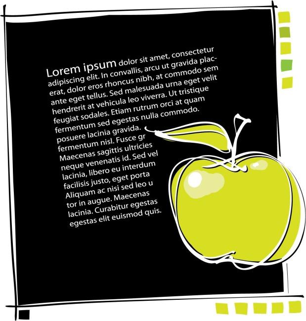 线描苹果 手绘艺术 海报 报纸 彩绘海报图片素材