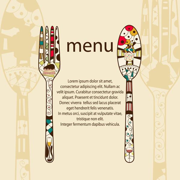 餐厅菜单矢量创意素材模板