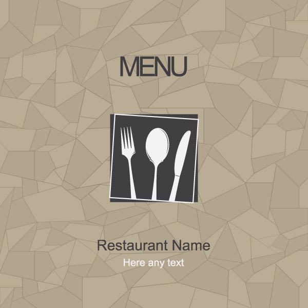 矢量简约菜单设计封面