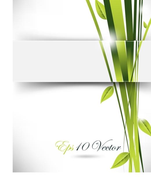 首页 最新素材 矢量图 广告设计 矢量绿色创意唯美封面设计图片