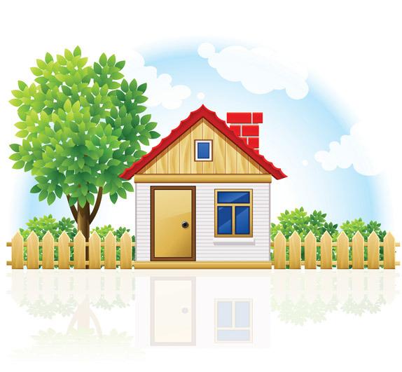 矢量乡村庭院房屋图片矢量图免费下载 千图网