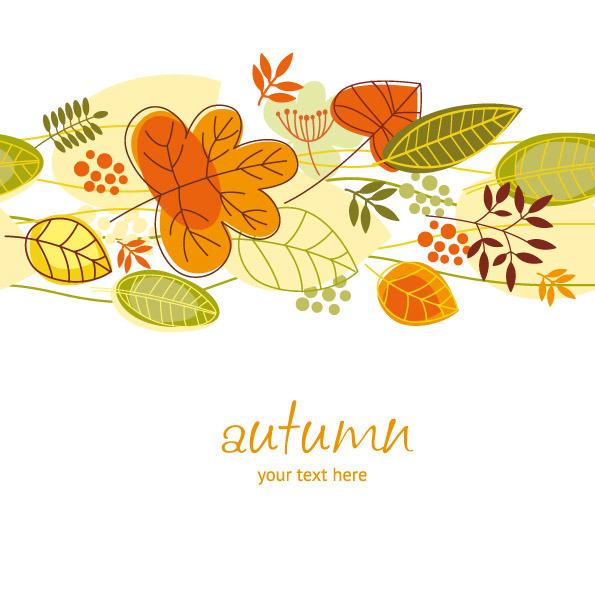 矢量秋季手绘枫叶素材