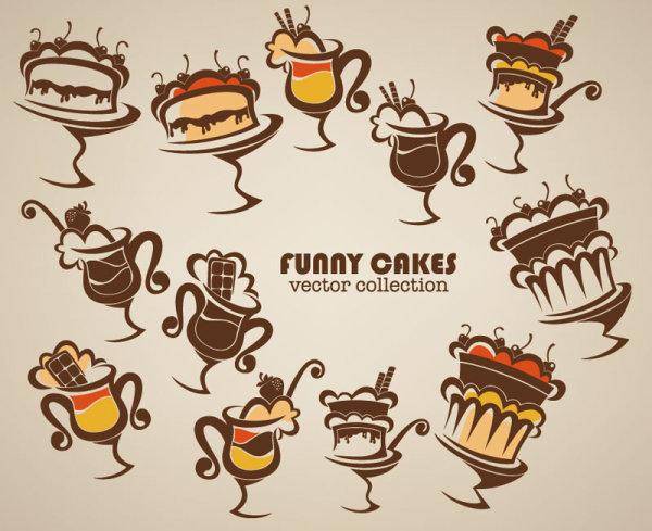矢量卡通手绘食物设计图片