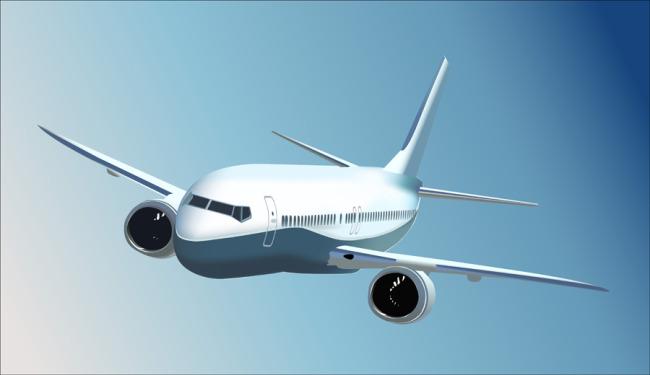 航空飞机矢量素材