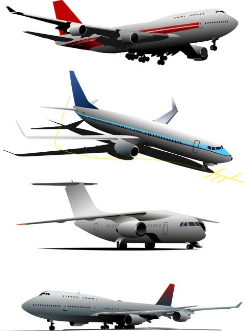 矢量多款飞机模型背景