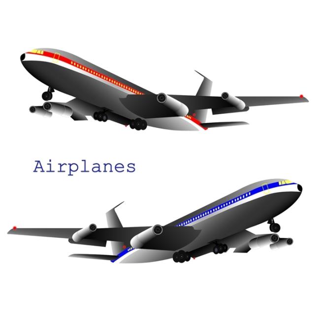 矢量素材飞机航空图片免费下载