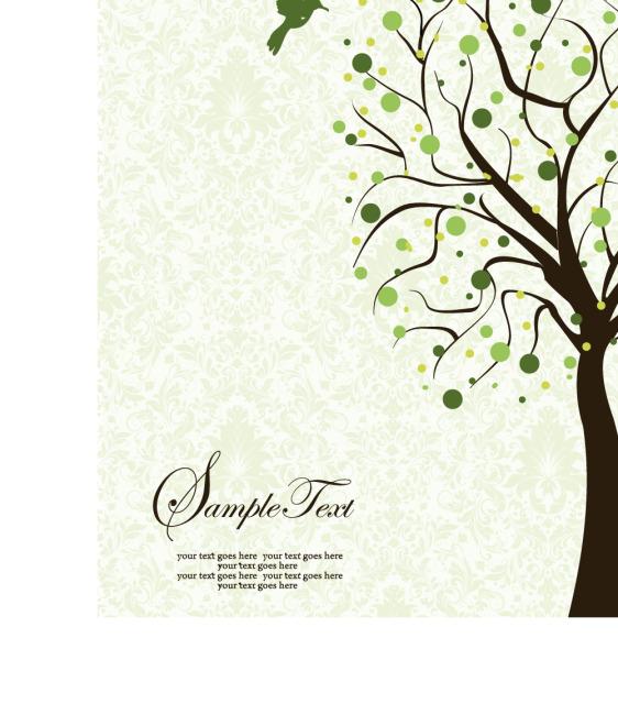矢量树木线条花纹素材背景